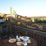 Vista sobre Siena desde el balcón