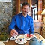 Tarte aux fraises et thé