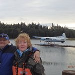 Seaplane ride with new fishing buddy