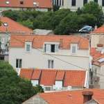 Apartments Mia, as seen from the top of Oldtown medieval walls