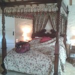 Lovely looking bed... but not at all comfortable. Have a drink or two first.
