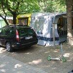 Stellplatz 2013 groß genug für Caravan,Vorzelt und PKW