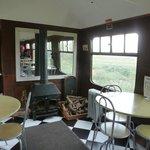 The tea-room interior