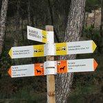 Cartel de rutas y senderos
