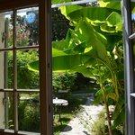 Le jardin intérieur depuis la chambre Rosemonde