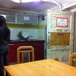 Basement stoveless kitchen