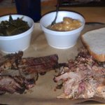 Brisket, Pulled Pork, Collards