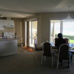 Kitchen, dining and patio, all with a view!