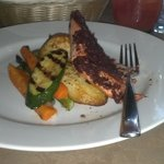 Salmon with Olive Tampanade