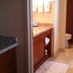 wetbar and bathroom