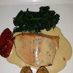 Salmon a la mostaza preparacion especial para cliente,  y salio muy contento.