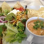 chicken tortilla soups and taco salad