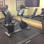 Small but useful fitness center. I had it to myself every evening at 5ish