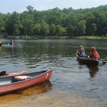 Canoes. $7 per half hour gives you plenty of time to explore the lake.