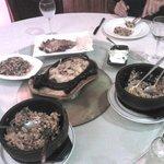 Pollo pekin, pollo yuxiang,pollo soja y arroz cazuela