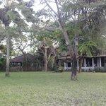 giardino fronte camere