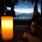 Sunset, candlelight, local beverage.  What more can you ask?