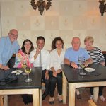With a few of the excellent staff at the Villa Bordoni
