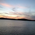 watch the sunset on the Branson Belle