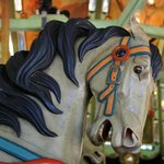 Original hand-carved horses.  (All photos by Geonni Banner)
