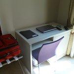 Desk area, free WiFI, provided Laptop
