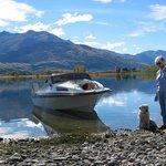 Boating on Lake Wanaka