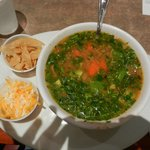 Tortilla Soup with Tortillas & Cheese on the Side