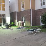 Courtyard with barbecue grill