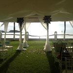 My friend's wedding set-up!  So pretty!