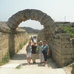 Arch (this was a tunnel) through which the Olympic athletes walked onto the competition field