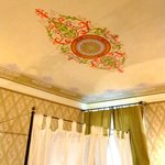 "Antica Residenza Cicogna beautiful ceiling stencil in room ""Liberty"""