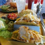 my meal, fish tacos, so yummy!