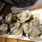 natural oysters with tequila slussy