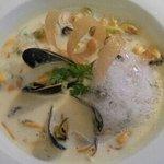 Mussels in onion cream