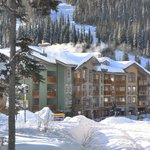 Fireside Lodge at the top end of the village. Ski from and to your door.
