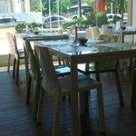 Vista do salão de café