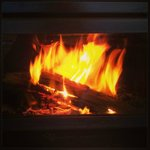 Log fire ...wonderful ambience