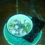 Takowasabi - marinated octopus with wasabi stem - very nice!!!