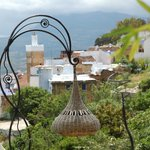 Lamps made by the owner and views on Chefchaouen
