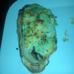 Kakimayo - baked BC oyster with mushrooms, spinach and garlic mayo topped w/cheese - my favourit