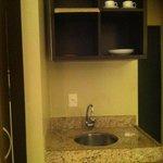 Pequena cozinha no quarto