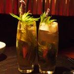 The Amazing Lavendar Tea and Mint Soda.