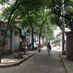 small street oposite Ibis