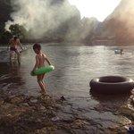 Nature swimming pool