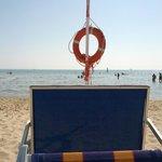 Vista mare dalla spiaggia privata dell'hotel