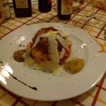Tartara con panzanella e grana