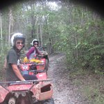 ATVing in the rainforest