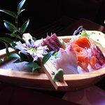 Barca di sashimi, 18 pz