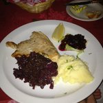 *Gluten Free* - Turkey Schnitzel ~ Served with Mashed Potatoes and Red Cabbage