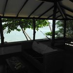 View from the tropical beach bungalow